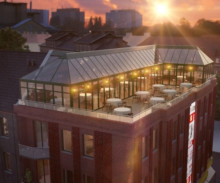 Visualisierung Stadthaus mit Penthouse