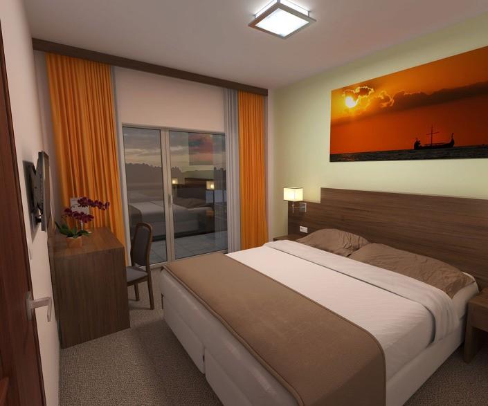 Innenvisualisierung Hotelzimmer