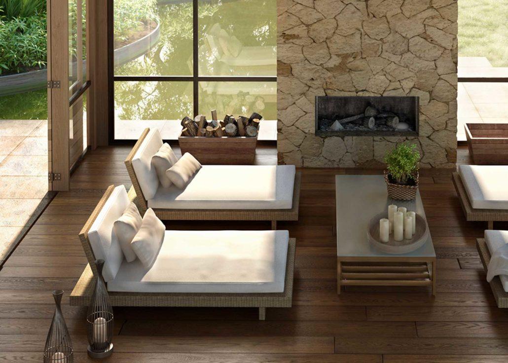 Innenvisualisierung Villa mit Holzboden