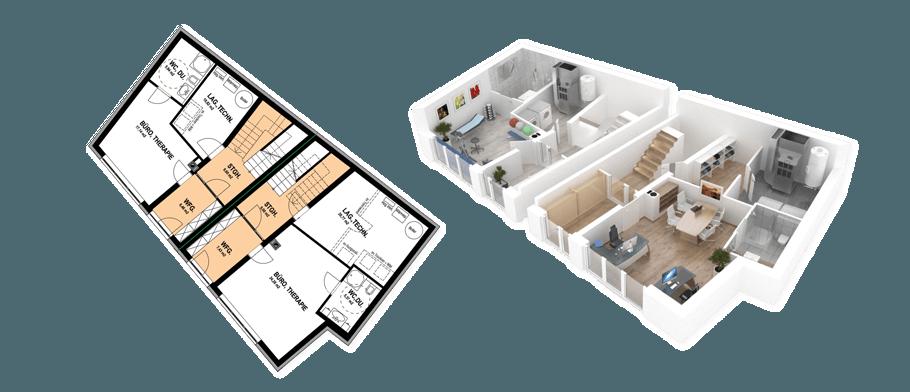 Isometrische 3D Visualisierung