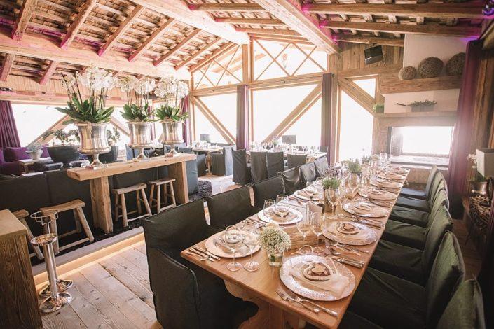 der Schwarzacher - Saalbach-Hinterglemm - Setup für Hochzeit