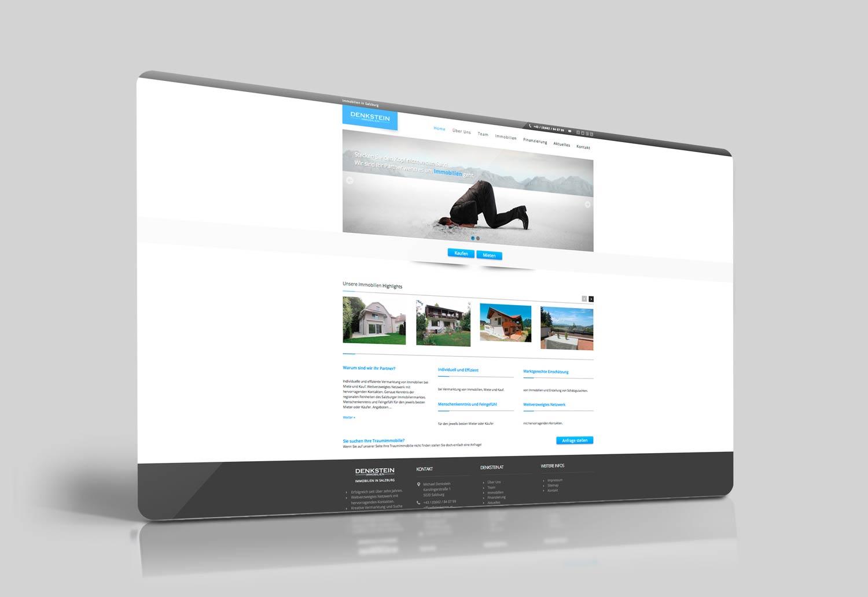 Webseite Denkstein Immobilien