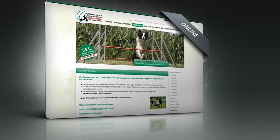 Webseite Österreichischer Tierschutzverein